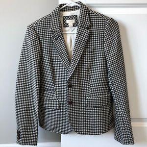 Wool houndstooth blazer